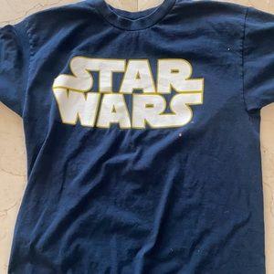 Vintage Star Wars Logo T-shirt Navy Blue XL